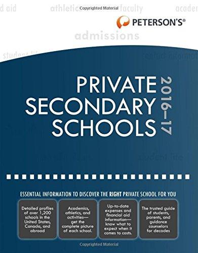 Private Secondary Schools 2016-2017
