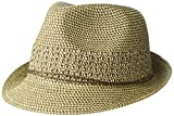 Nine West Women's Packable Fedora, Brown Combo, One Size