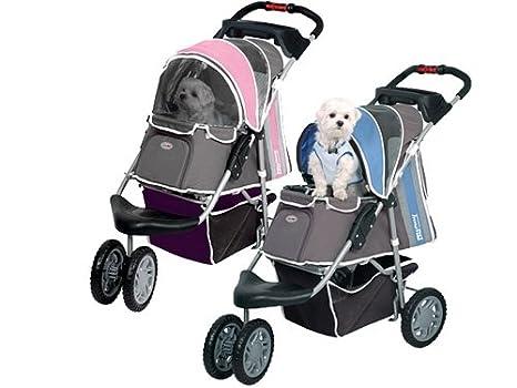 Cochecito para mascotas Ips-09/azul, portador de perros, carrito, remolque, insonorizado, carrito de bebé de primera clase. Silla de paseo plegable para ...