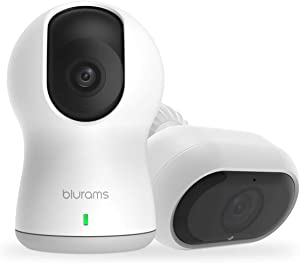 blurams Outdoor & Indoor Pro Security Camera Bundle Set 1080p w/ Two-Way Audio | Sound/Person Detection | IR Night Vision | Cloud&Local Storage | Works with Alexa and Google Assistant