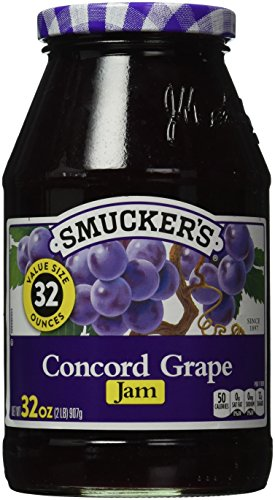 (Smucker's  Concord Grape Jam, 32-Ounce (Pack of 6) )