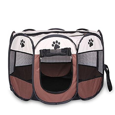Casa para mascotas plegable, portátil e impermeable, para perros pequeños o gatos, en interior o exterior, refugio para los pequeños animales de la ...