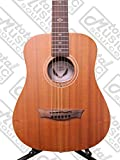 Dean FLY MAH Flight Series 3/4 Size Travel Acoustic Guitar, Mahogany