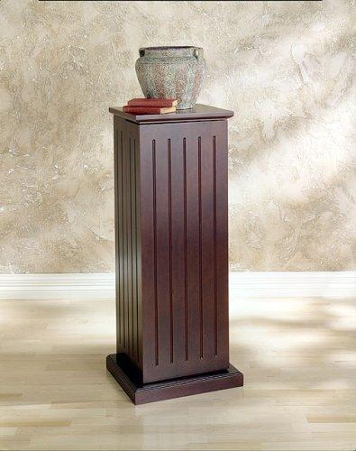SEI Cherry Media-Storage Pedestal with 10 Adjustable Shelves