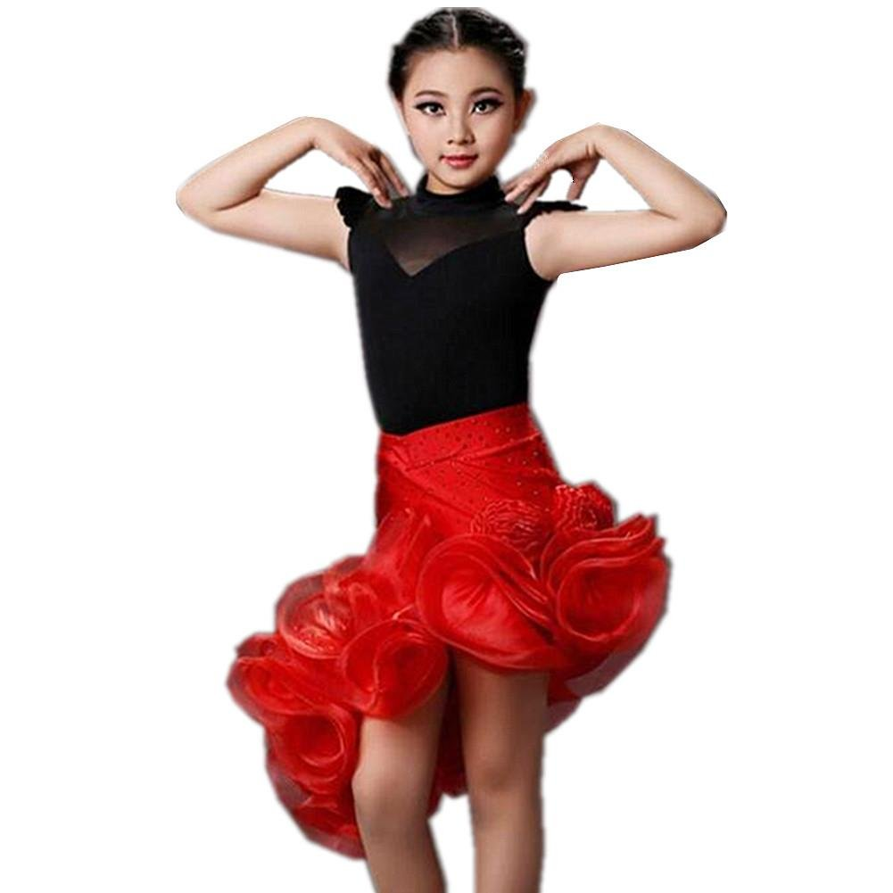 Wgwioo Trajes De Baile Latino para Niños Traje Falda ...