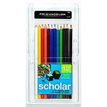 PRISMACOLOR Scholar Pencil, Art Pencils, Box of 12, Assorted Colours (92804)