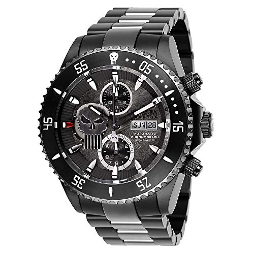 - Invicta Reserve 27161 Marvel Punisher Grand Diver Limited Edition Swiss Automatic SW500 Chronograph Watch