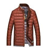 YANXH Winter The New Down Jacket Men Stand collar coat , orange , M