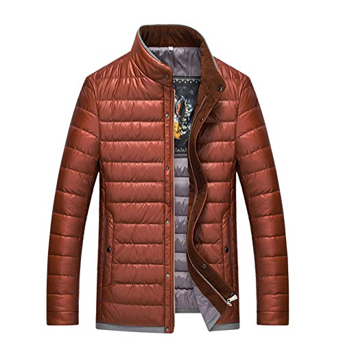 YANXH Winter The New Down Jacket Men Stand collar coat , orange , M by YANXH outdoors