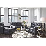 Ashley Furniture Signature Design - O'Kean Upholstered Leather  Queen Sleeper Sofas - Contemporary - Navy