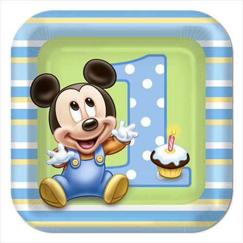 Mickey Mouse 1st Birthday Large Paper Plates (8ct) ()