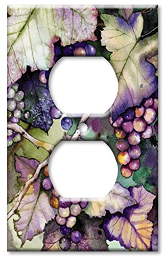 Art Plates - Outlet Cover OVERSIZE Switch Plate/OVER SIZE Wall Plate - Grapes and - Switchplate Covers Oversize