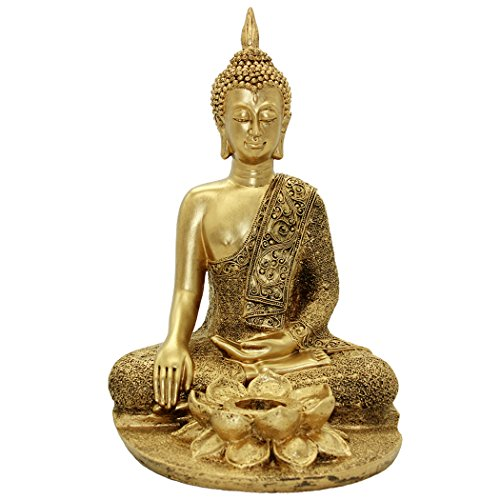 - Golden Resin Buddha Statue Home Furnishing Decoration BS116