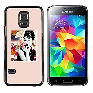 Paccase / SLIM PC / Aliminium Casa Carcasa Funda Case Cover - Poster Movie Star Actress Hollywood - Samsung Galaxy S5 Mini, SM-G800, NOT S5 REGULAR!