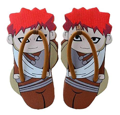Bromeo Naruto Unisex Adorable Cartoon Flip Flops Chanclas Gaara