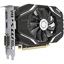 MSI GAMING GeForce GTX 1050 2GB GDRR5 128-bit HDCP Support DirectX 12 Single Fan OC Graphics Card (GTX 1050 2G OC)