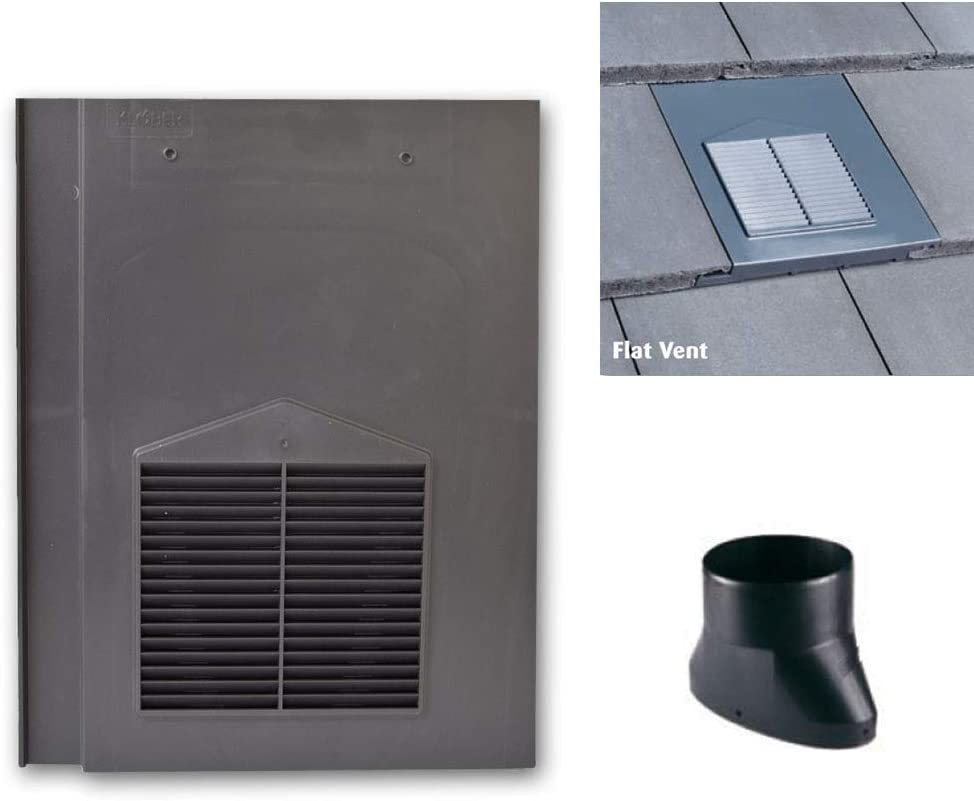 Compatible with Sandtoft Calderdale Redland Mini Stonewold /& Marley Modern Tiles Flat Tile Vents with Flexi Pipe Adaptor Russell Grampian Brown Roof Tile Vent