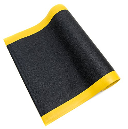 Bertech Anti Fatigue Vinyl Foam Floor Mat, 3' Wide x 12' Long x 3/8