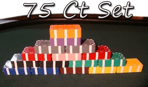 European Style Plaque 5 Purple Rectangular Poker Chips