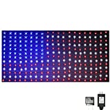 Russell Decor Patriotic Decor Memorial Day Independence Day USA Flag Curtain Lights Stars and Stripes 4th of July
