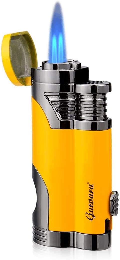 GUEVARA Butane Torch Lighter with Punch Windproof Double Jet Lighters