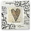"""Imagine Love Personalized Ceramic Plate, 8"""" Square"""