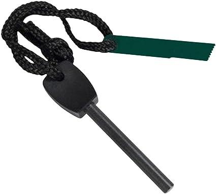 Camping Fire Starter Lighter Kit w// Whistle Magnesium Flint Stone Survival Tool