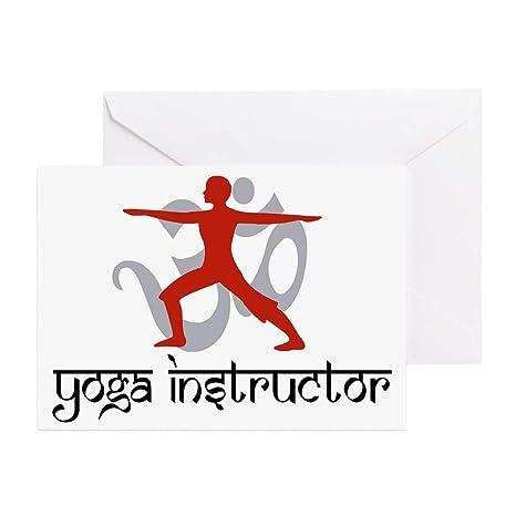 Amazon.com : CafePress Yoga Instructor Greeting Card, Note ...