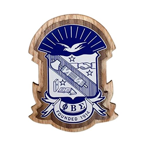Mega_Greek Phi Beta Sigma Double Raised Wood Crest with Adhesive Double Raised Wood Letter