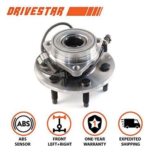 (DRIVESTAR 4WD Only 515036 New Front Wheel Hubs & Bearings for Chevy GMC Truck 4x4 AWD w/ABS)
