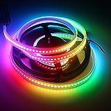 KAPATA Digital RGB Strip Individually Addressable LED Strip WS2812B WA2812 5m 30IC-30LED/M White PCB Waterproof Dream Color DC5V
