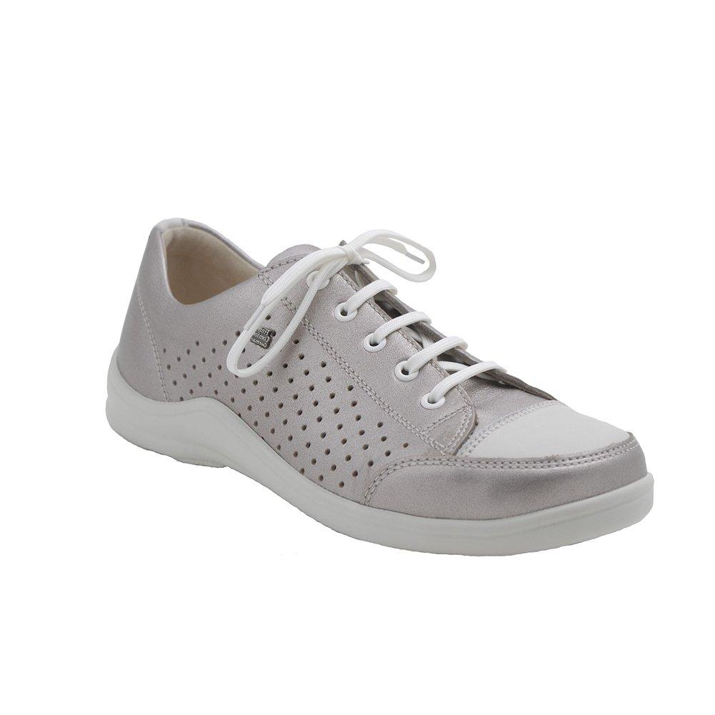 Finn Comfort Charlotte-Soft Womens Fashion Sneakers, Smog/Jasmine Corten/Okapi, Size - 39