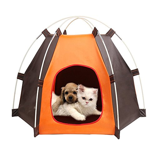 Folding Pet Dog House, Portable Waterproof Pet Tent for Small Dog and Cats, Indoor & Outdoor Small Animals Shelter