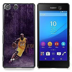 - 24 Bryant - Lakers Basketball - - Cubierta del caso de impacto con el patr??n Art Designs FOR Sony Xperia M5 Queen Pattern