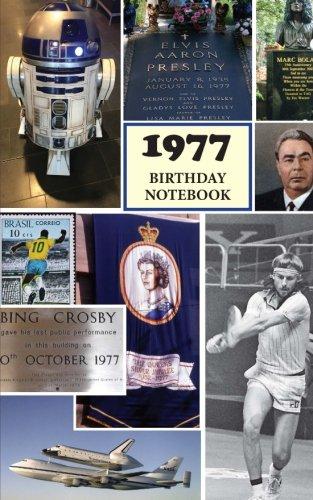 1977 Birthday Notebook alternative birthday product image