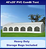 40'x20' PVC ComBi Party Tent - Heavy Duty Wedding Canopy Gazebo - with Storage Bags - By DELTA Canopies