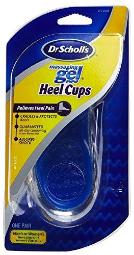 Dr. Scholl's Massaging Gel Heel Cups, Medium, 3 pair package