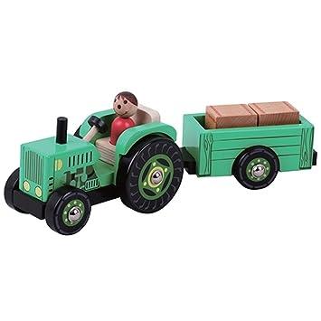 Remolque MaderaAmazon esJuguetes De Juegos Tractor Y Con TFJ3lKc1
