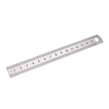 Regla de metal de acero inoxidable de 15 cm, reglas métricas ...
