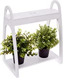 Mindful Design LED Mini Indoor Herb Garden - Home Counter Top Herbs/Vegetable Planter (White)