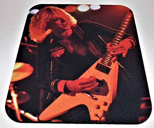 Michael Schenker Flying V - Michael Schenker and Flying V Computer Mouse Pad (1/4th Inch Thick)