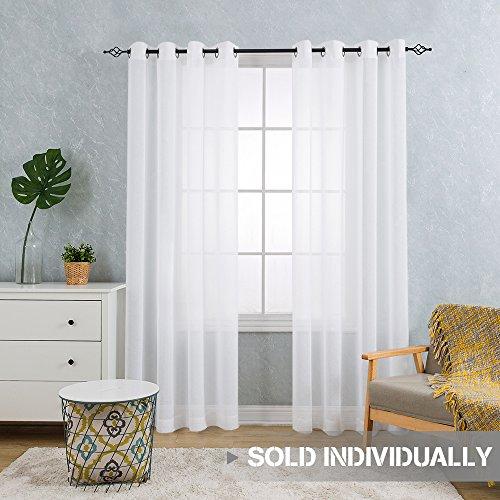 Modern White Sheer Curtains Living Room: Amazon.com