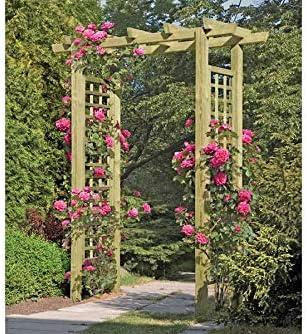 Gartenpirat Entrada Pergola 160 x 62 x 210 cm Pergola de Madera con Rank Elementos: Amazon.es: Jardín
