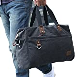 Everdoss Mens Weekend Duffle Bag Thick Canvas Travel Tote Duffel Handbag Review