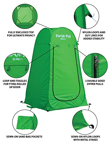 GigaTent-Pop-Up-Pod-Changing-Room-Privacy-Tent--Instant-Portable-Outdoor-Shower-Tent-Camp-Toilet-Rain-Shelter-for-Camping-Beach--Lightweight-Sturdy-Easy-Set-Up-Foldable-with-Carry-Bag-5