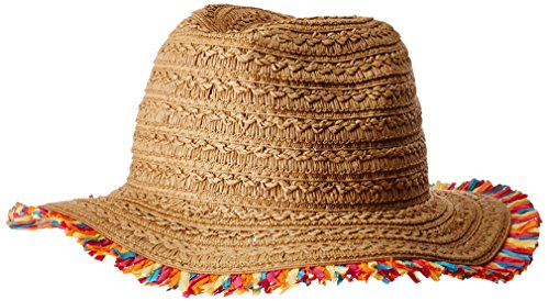 Panama Fringe - Betsey Johnson Women's Fringe Factor Panama Hat, tan one Size