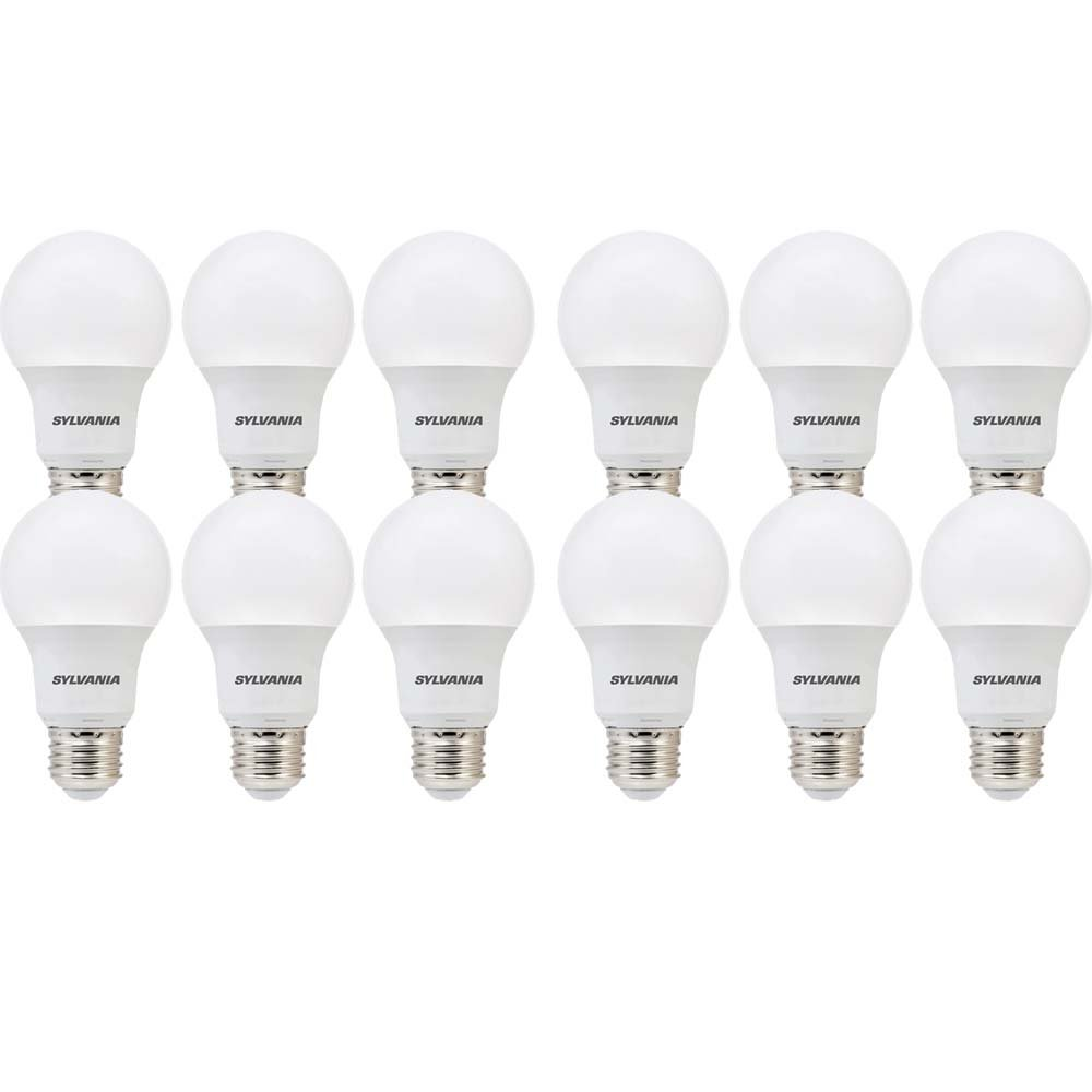 Sylvania A19, 60W Equivalent LED Light Bulb, Soft White 2700K, 12 Pack 74469