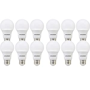 SYLVANIA, 40W Equivalent, LED Light Bulb, A19 Lamp, 12 Pack, Soft White, Energy Saving & Longer Life, Value Line, Medium Base, Efficient 6W, 2700K