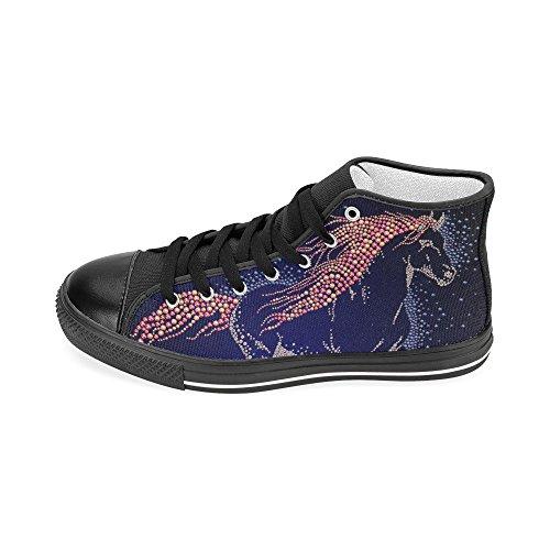 D-story Custom Bee Womens Klassieke High Top Canvas Schoenen Fashion Sneaker Multicoloured11