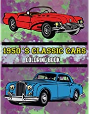1950's Classic Cars Coloring Book